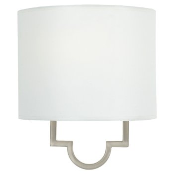 White Parchment shade, Pewter Plated finish
