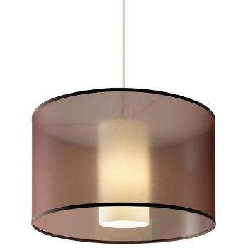 Shown in Brown Organza shade, White finish