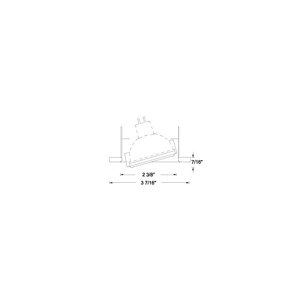 Low Voltage 2.5 Inch Gimbal Ring Trim 837