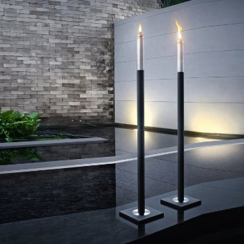 Shown with included stainless steel base, Unlit