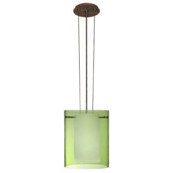Shown in Transparent Olive glass, Bronze finish