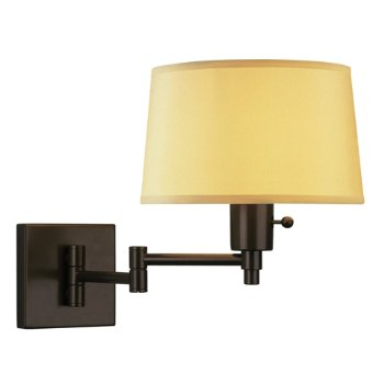 Real Simple Swing Arm Wall Sconce (Bronze/White) - OPEN BOX