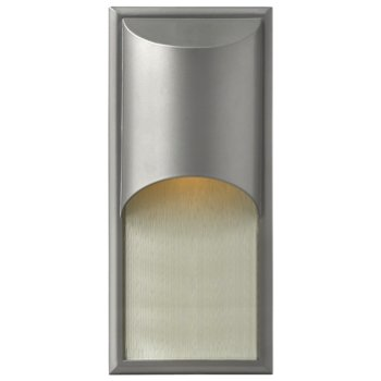 Titanium with Clear Etched Organic Rain Glass, Large