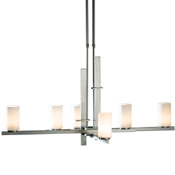 Shown in Opal glass, Burnished Steel finish