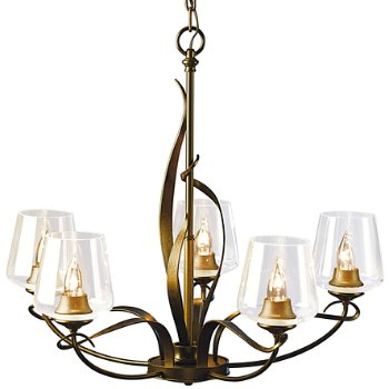 Shown in Gold finish with Clear Glass color, Dome Design