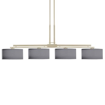 Shown in Soft Gold finish, Medium Grey Shade color