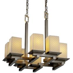 Limoges Montana 8-Light Zig-Zag Chandelier
