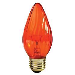 25W 120V F15 E26 Amber Flame Bulb