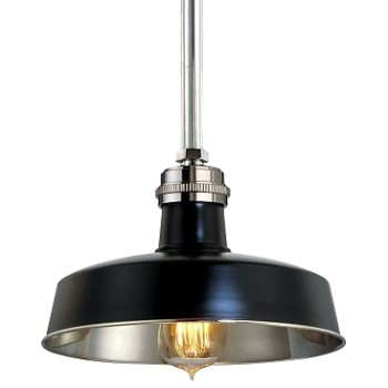 Shown in Black and Polished Nickel finish, Small size