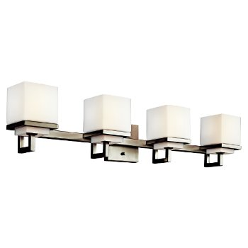 Shown in Opal Glass, Brushed Nickel finish, 4 LIght