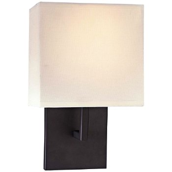 Fabric Wall Sconce (Bronze/Off-White) - OPEN BOX RETURN