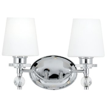 Shown in Etched White glass, Polished Chrome finish