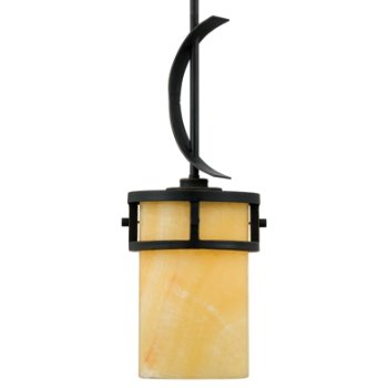 Shown in Imperial Bronze with Butterscotch Marble shade