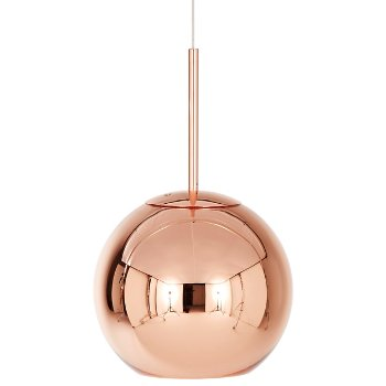 Shown in Copper finish, 9.84 Inches size