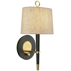 Ventana Wall Sconce (Ebony with Brass) - OPEN BOX RETURN