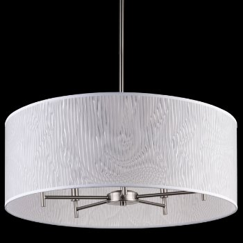 Shown in Natural Linen shade, Brushed Nickel finish