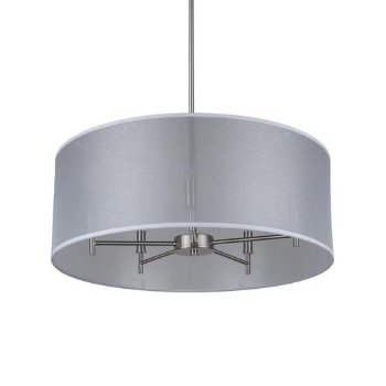 Shown in Silver Organza shade, Brushed Nickel finish