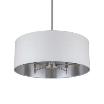 Shown in Metallic White/ Silver shade, Brushed Nickel finish