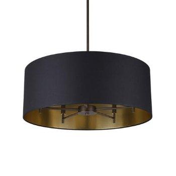 Shown in Metallic Black/ Gold shade, Oil Rubbed Bronze finish