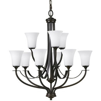 Shown in Oil Rubbed Bronze finish, Opal Etched shade