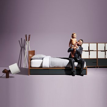 Rook Table Lamp with Splash Coat Rack, Modu-licious Bed and Modu-licious #6