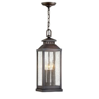 Shown in Blackened Brass finish with Clear Seedy color