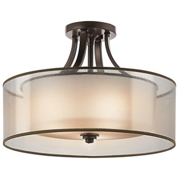 Shown in Mission Bronze with Light Umber Metallic Frosted Translucent Organza finish, Large size
