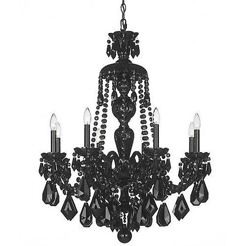 Hamilton black chandelier by schonbek lighting at lumens aloadofball Choice Image