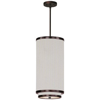 Shown in White Pleat shade, Oil Rubbed Bronze finish