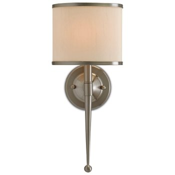 Shown lit in Cream shade, Satin Nickel finish