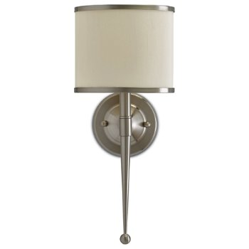 Shown unlit in Cream shade, Satin Nickel finish