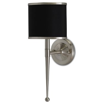 Shown unlit in Black shade, Satin Nickel finish