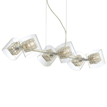 Jewel Box 6-Light Linear Suspension