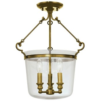 Shown in Aged Brass finish, Small size