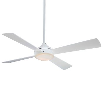 Shown in Flat White with Flat White Fan Body and Blade Finish, lit