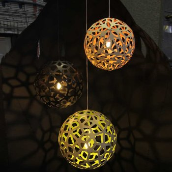 Shown in Natural Bamboo, Natural and Lime, lit