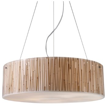 Shown in Bamboo Stems shade, Polished Chrome finish