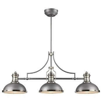 Shown in Weathered Zinc with Polished Nickel finish