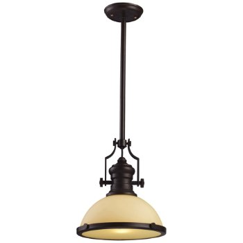 Shown in Oiled Bronze with Amber Frosted shade