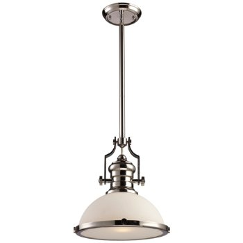 Shown in Polished Nickel with Frosted shade