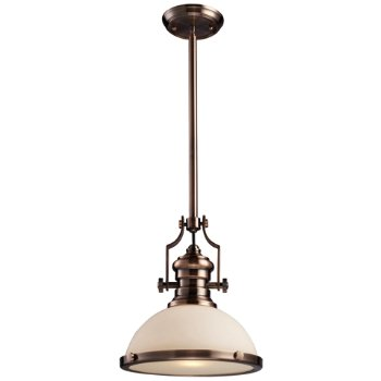 Shown in Antique Copper with Frosted shade