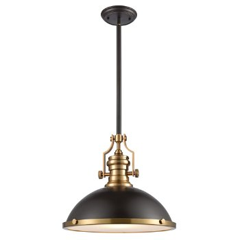 Shown in Oil Rubbed Bronze with Satin Brass finish, Large size