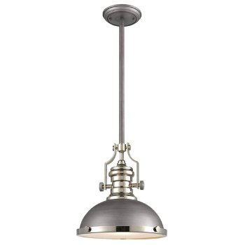 Shown in Weathered Zinc with Polished Nickel finish, Small size