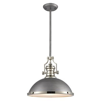 Shown in Weathered Zinc with Polished Nickel finish, Large size