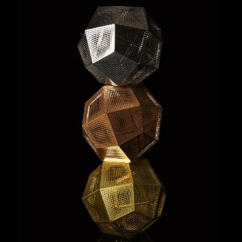 Shown in Stainless Steel, Copper and Brushed Brass (top to bottom)