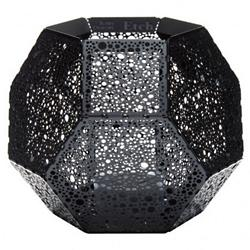 Etch Tea Light Holder - Black