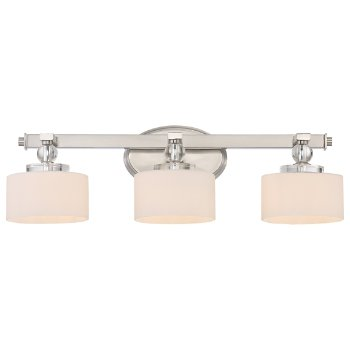 Shown in 3 lights, Brushed Nickel