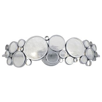 Shown in Metallic Silver with Clear finish, 2 Light