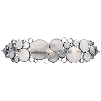 Shown in Metallic Silver with Clear finish, 3 Light