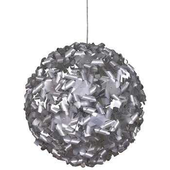 Shown in Aluminum finish, Large size